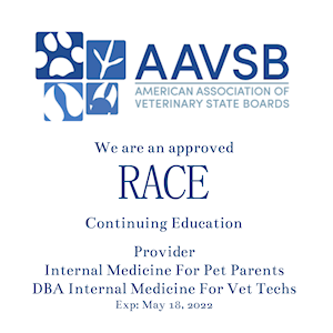 Internal Medicine For Vet Techs RACE Approved CE for veterinary technicians